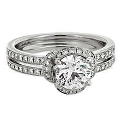 Optima Double Row Engagement Ring