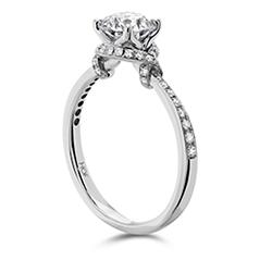 Optima Engagement Ring- Diamond Band