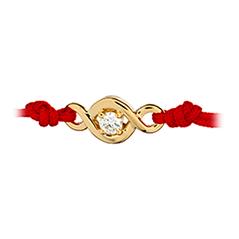 Optima Single Diamond Cord Bracelet