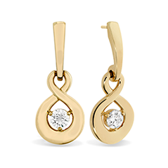 Optima Single Diamond Drop Earrings