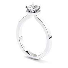 Purely Bridal Four-Prong Solitaire