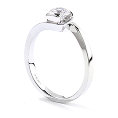 Purely Bridal Rose Solitaire Engagement Ring