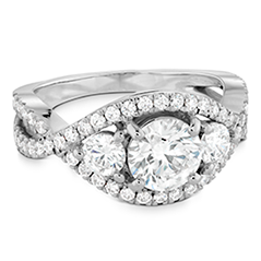 Significance Three Stone Diamond Engagement Ring