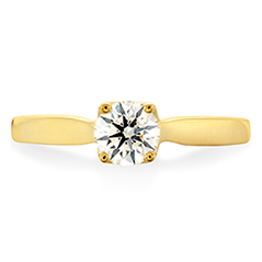 Simply Bridal Leaf Solitaire Engagement Ring