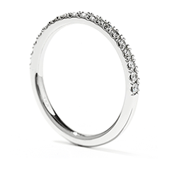 Transcend Double Halo Wedding Band