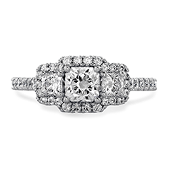Transcend Three-stone Dream Engagement Ring