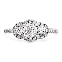 Transcend Three-stone Engagement Ring