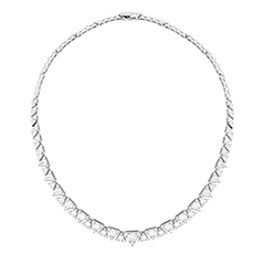 Triplicity Diamond Line Necklace