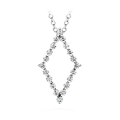 Whimsical Single Prong Diamond Pendant