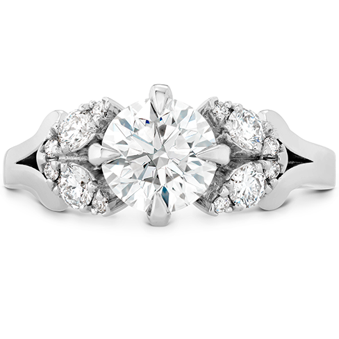 Aerial Petal Diamond Engagement Ring