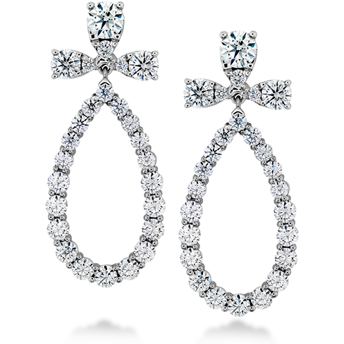 Aerial Teardrop Diamond Earrings