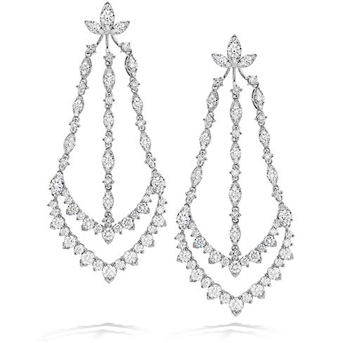 Aerial Triple Diamond Chandelier Earrings
