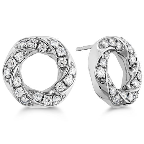 Atlantico Circle Pave Earrings