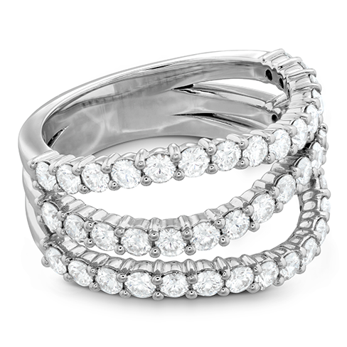 Atlantico Triple Wave Diamond Ring