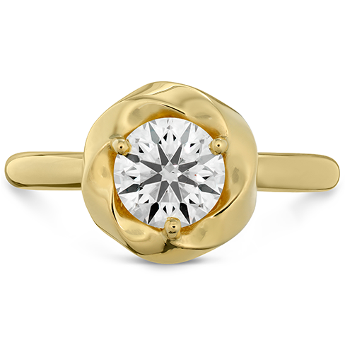 Atlantico Wave Halo Solitaire Engagement Ring