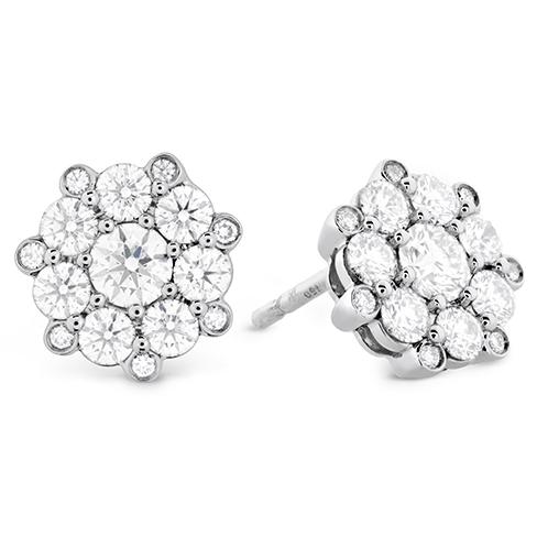 Beloved Cluster Diamond Stud Earrings