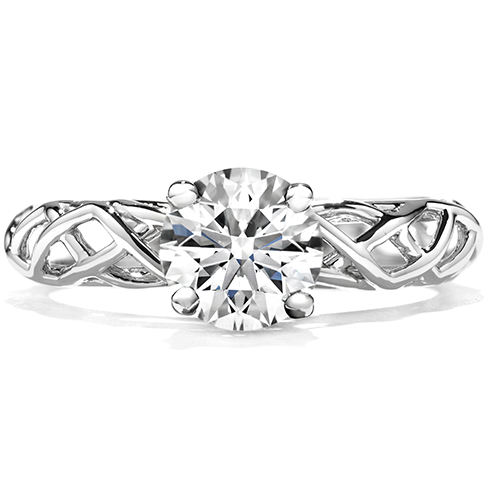 Brocade Solitaire Engagement Ring