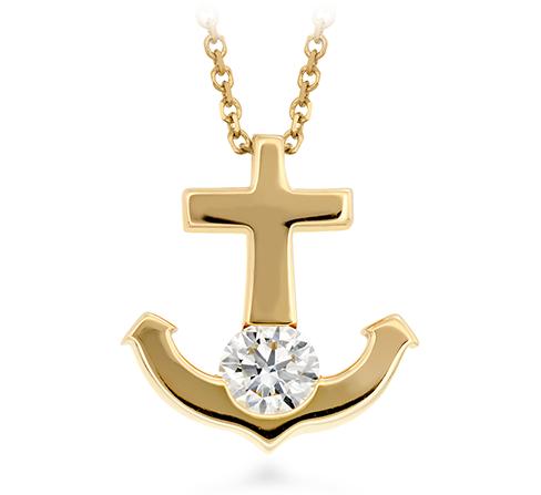 Charmed Anchor Pendant