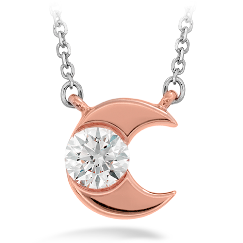 Charmed Half Moon Pendant