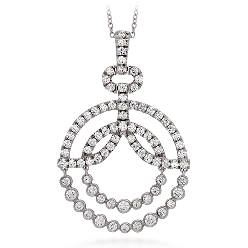 Copley Diamond Circle Pendant Necklace