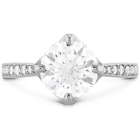 Copley Diamond Crown Engagement Ring