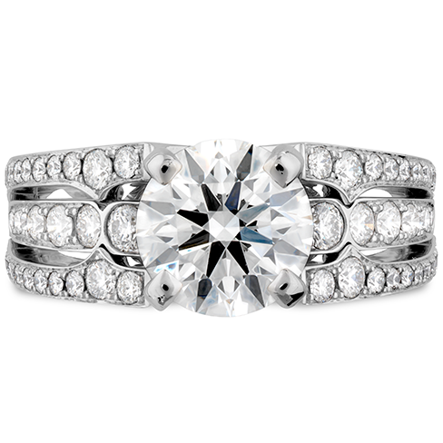 Copley Diamond Tripple Row Engagement Ring