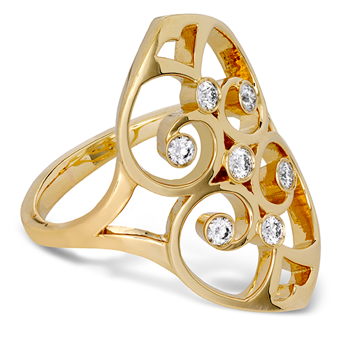 Copley Double Heart Right Hand Ring