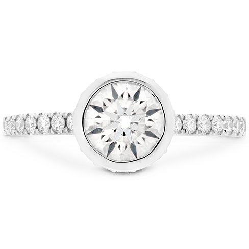 Deco Chic HOF Bezel Engagement Ring