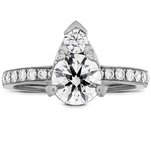 Desire Teardrop Shape Engagement Ring Diamond Band