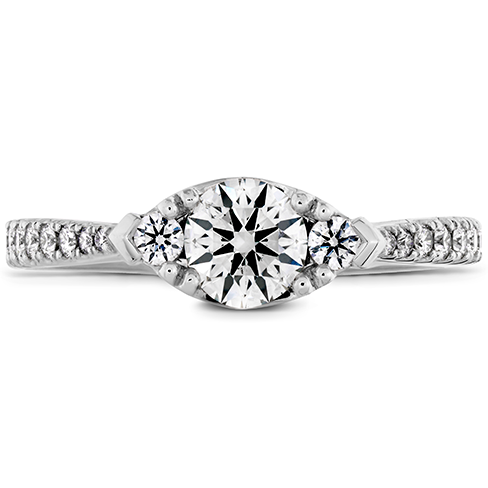 Destiny Horizontal Regal Engagement Ring Diamond Band