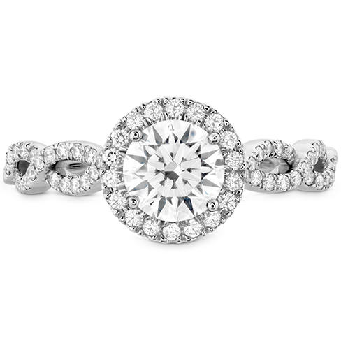 Destiny Lace HOF Halo Engagement Ring - Dia Intensive