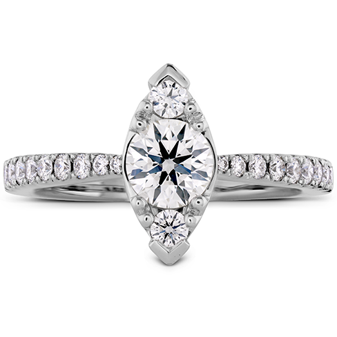 Destiny Regal Engagement Ring Diamond Band