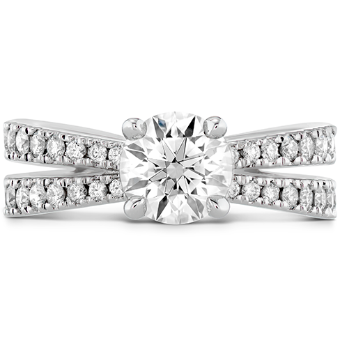 Destiny Split Shank Engagement Ring Diamond Band