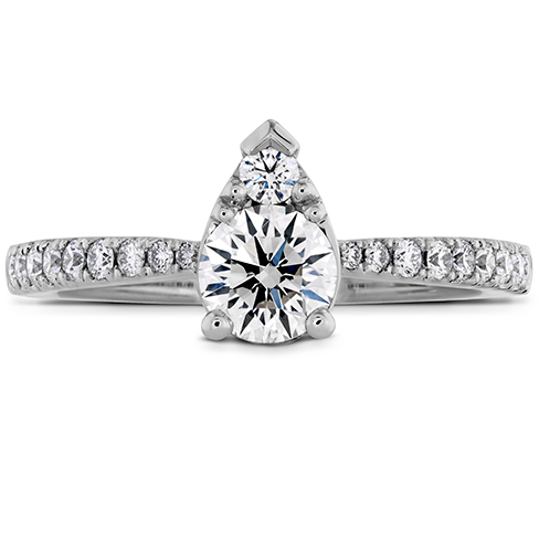 Teardrop Shaped Diamond Ring