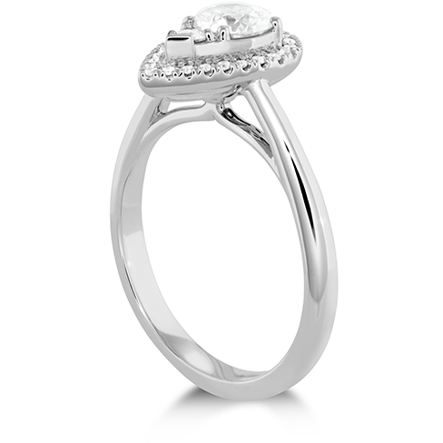 Destiny Teardrop Shape Halo Engagement Ring
