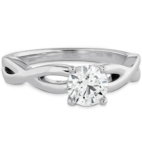 Destiny Twist Solitaire Engagement Ring