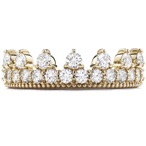 Diamond Bar Beaded Crown Band