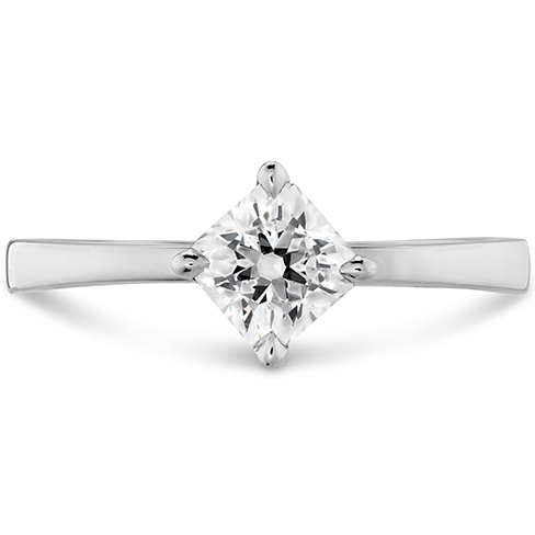Dream Offset Signature Solitaire Engagement Ring