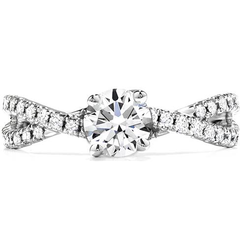 envelop twist engagement ring