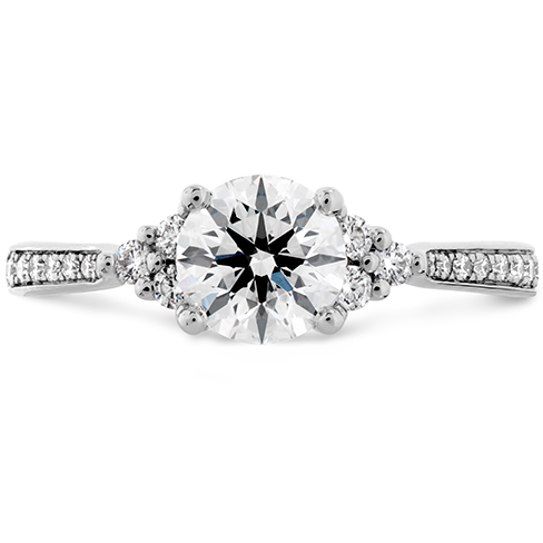 Felicity Queen Anne Engagement Ring Diamond Band