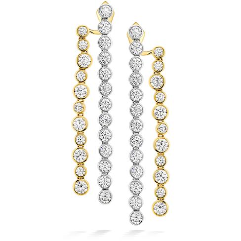 HOF Bezel Diamond Line Earrings