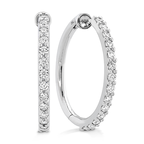 HOF Classic Diamond Hoop - Medium