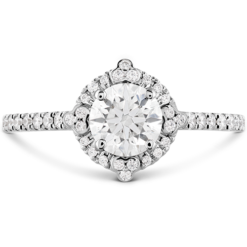 HOF Compass Halo Engagement Ring