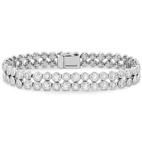 HOF Double Bezel Diamond Bracelet