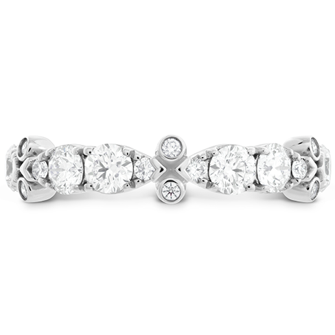 HOF Double Teardrop Bezel Diamond Band