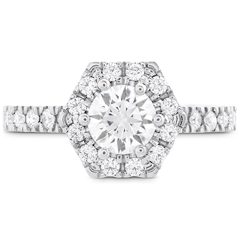 HOF Hexagonal Engagement Ring Diamond Band