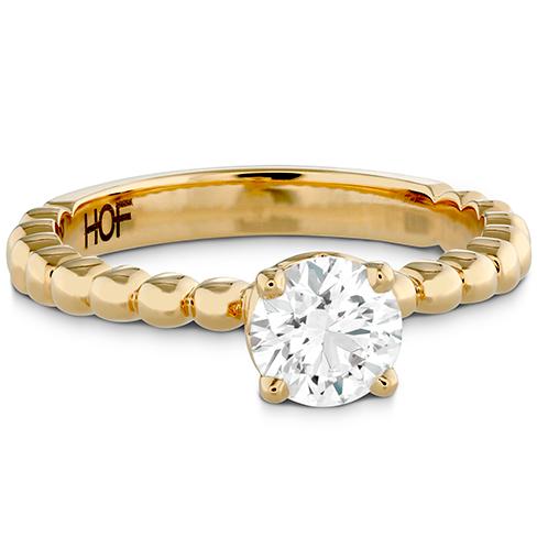 HOF Signature Beaded Solitaire Engagement Ring