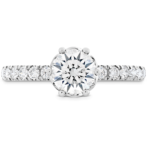 HOF Signature Bezel Basket Engagement Ring Dia Band