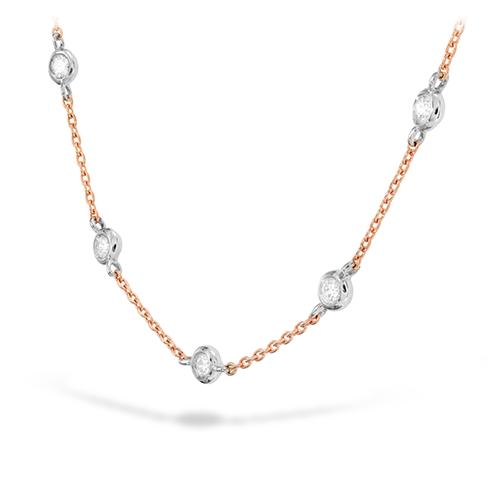 HOF Signature Off-Set Five Bezel Necklace