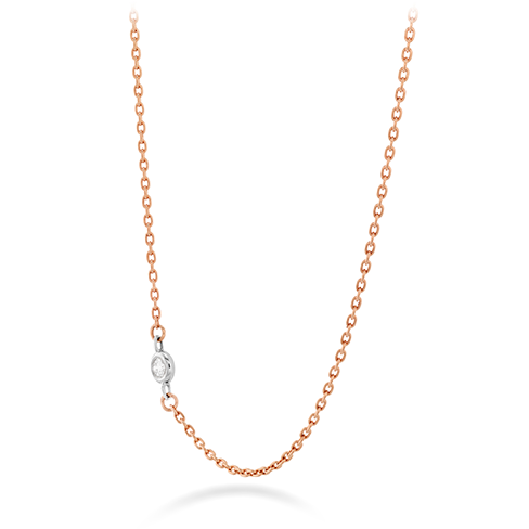 HOF Signature Off-Set Single Bezel Necklace